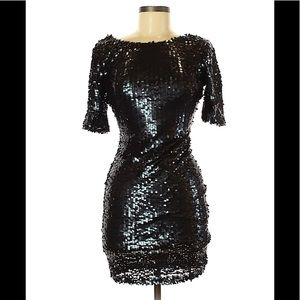 NWT's Black Sequin Dress sz Small Ark&Co Party